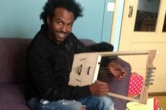 Ethiopian krar - happy customer