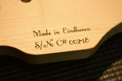Purpleheart slide guitar S/N engraving